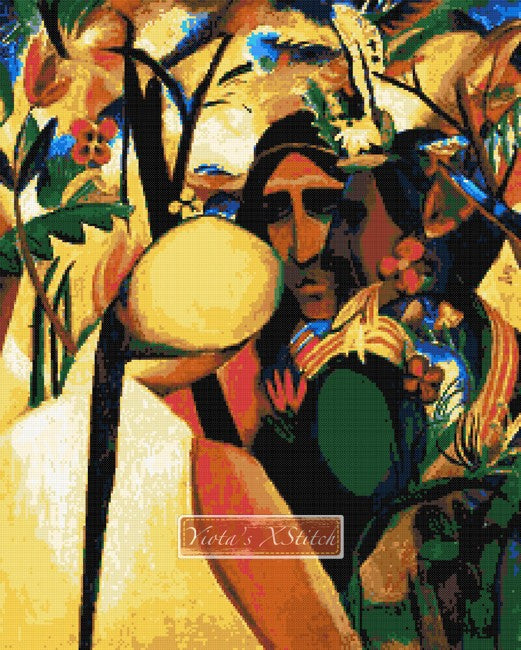 Indians, Native American by August Macke in counted cross stitch kit