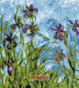Irises (v2) Monet counted cross stitch kit