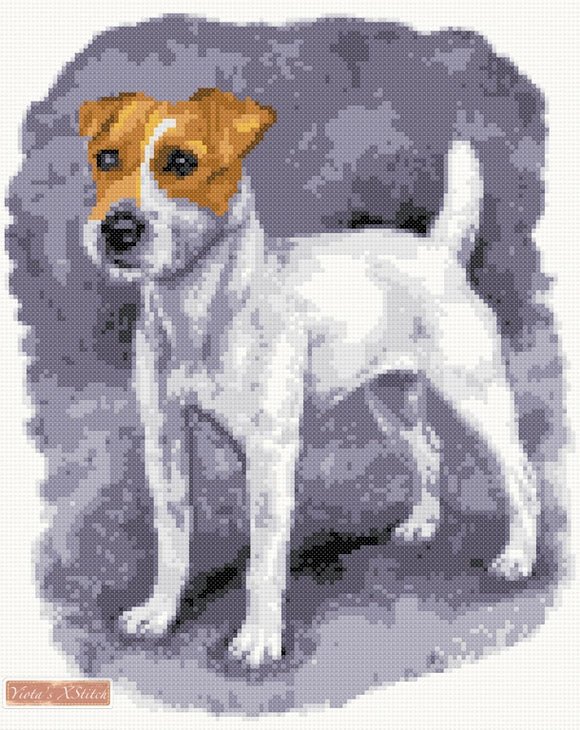 Jack Russell standing counted cross stitch kit