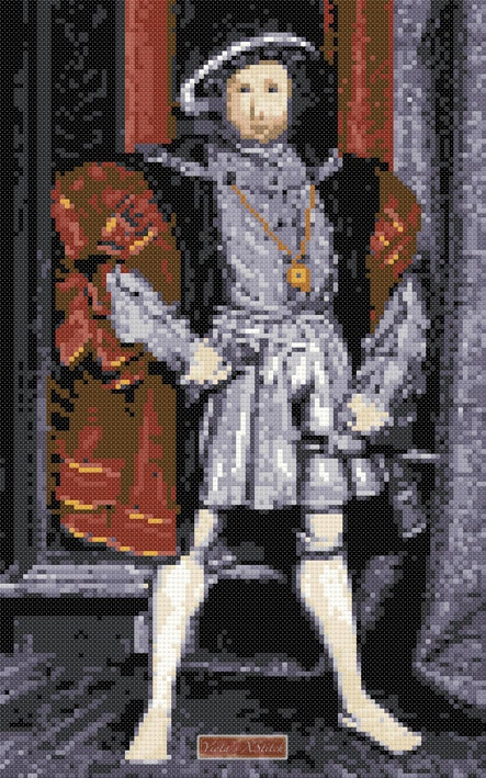 King Henry VIII cross stitch kit