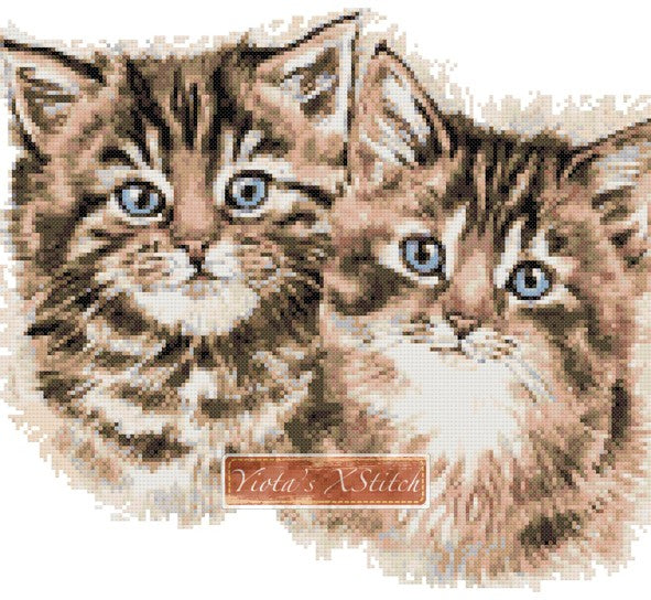 Kittens counted cross stitch kit