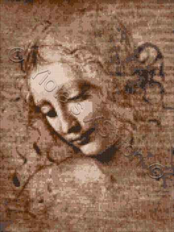 La Scapigliata Da Vinci (v2) counted cross stitch kit