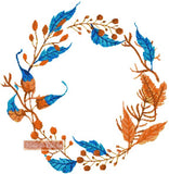 Leaves wreath counted cross stitch kit