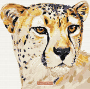 Cheetah No2 counted cross stitch kit