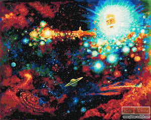 Let there be light, universe counted cross stitch kit