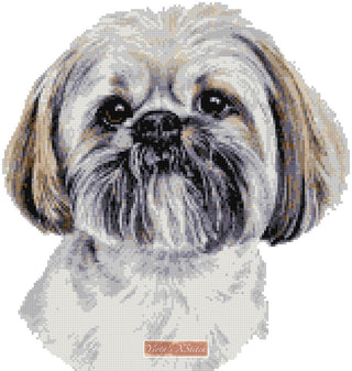 Lhaso Apso counted cross stitch kit