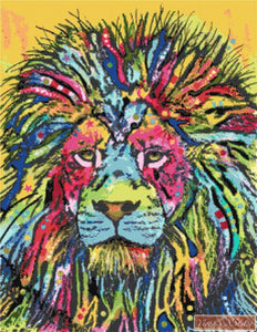 Lion by Dean Russo counted cross stitch kit