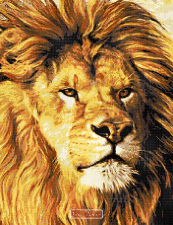 Lion face (No2) counted cross stitch kit