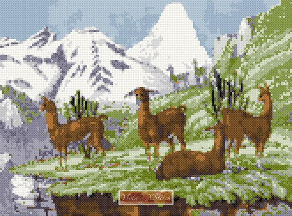 Llama (v2) counted cross stitch kit