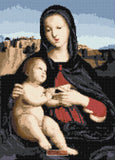 Madonna and child by Raphael counted cross stitch kit