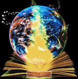 Magic book earth planet counted cross stitch kit