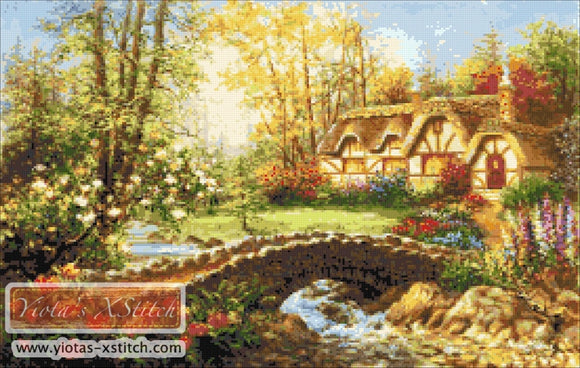 Magical home sweet home counted cross stitch kit
