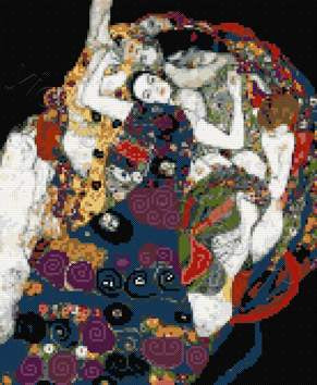 Maiden by Klimt counted cross stitch kit