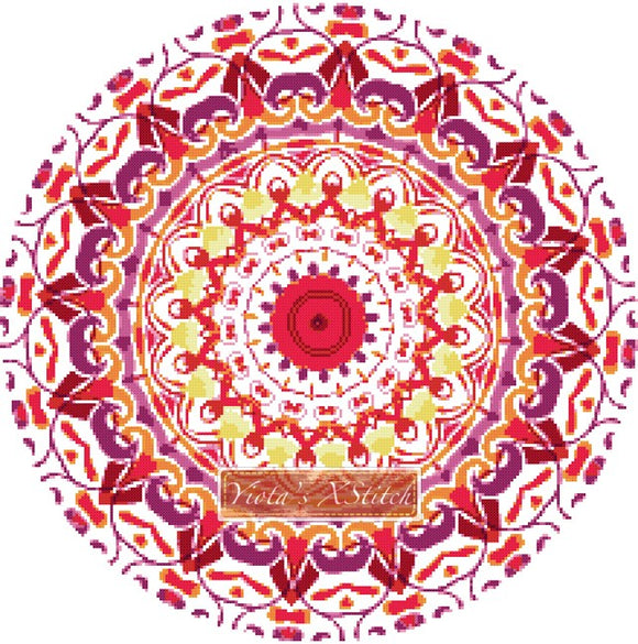 Mandala 01 counted cross stitch kit