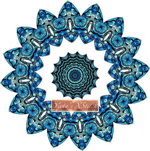 Mandala 11 counted cross stitch kit