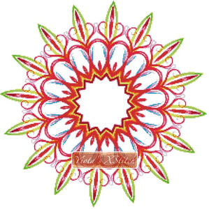Mandala 03 counted cross stitch kit