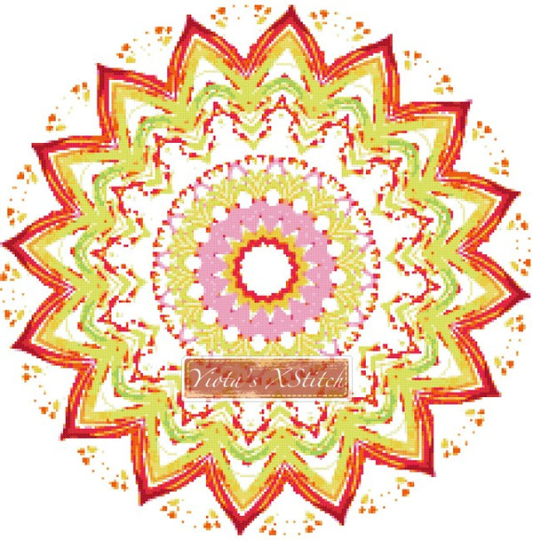 Mandala 06 counted cross stitch kit