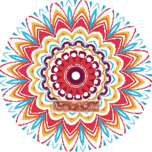 Mandala 07 counted cross stitch kit