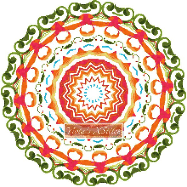 Mandala 08 counted cross stitch kit