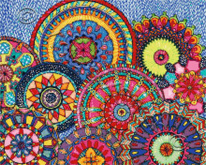 Mandala Parade No1 counted cross stitch kit