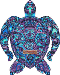 Mandala turtle counted cross stitch kit