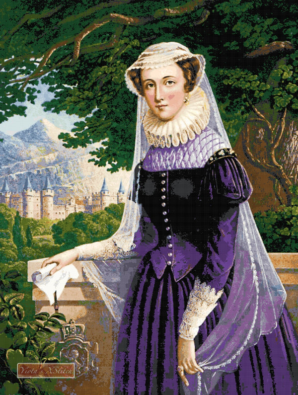 Mary Queen of Scots counted cross stitch kit