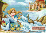 Mermaid fairy tale counted cross stitch kit