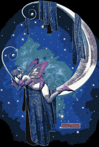 Moon fairy counted cross stitch kit