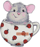 Mouse in a cup counted cross stitch kit