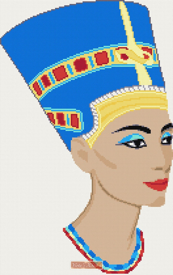 Egyptian queen, Nefertiti in cross stitch kit