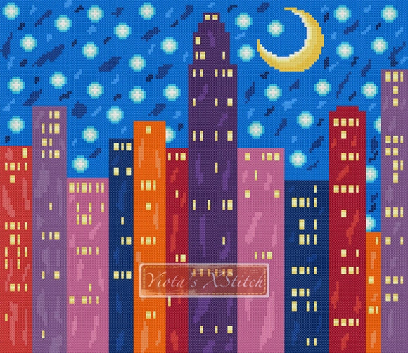New York abstract city cross stitch kit