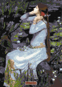 Ophelia by Waterhouse counted cross stitch kit
