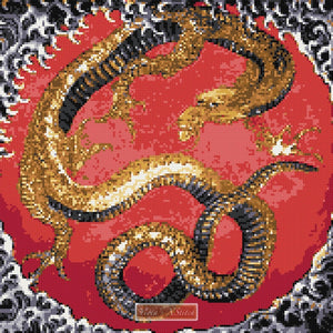Oriental dragon counted cross stitch kit