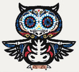 Owl sugar skull cross stitch kit