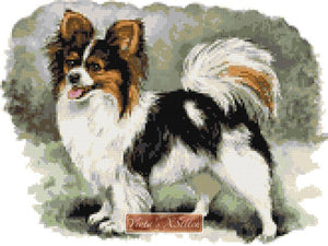 Papillon standing counted cross stitch kit