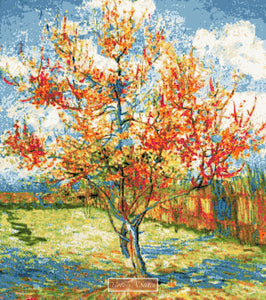 Peach tree by Van Gogh counted cross stitch kit