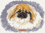 Pekingese counted cross stitch kit