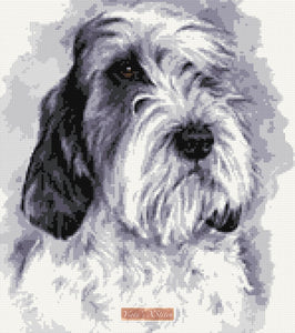 Petit Basset Griffon Vendeen counted cross stitch kit