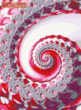Pink diamond swirl fractal counted cross stitch kit