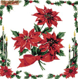 Poinsettia v2 counted cross stitch kit
