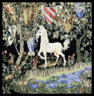 Quest for the unicorn William Morris cross stitch kit