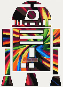 R2D2 counted cross stitch kit