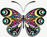 Rainbow butterfly (v2) counted cross stitch kit