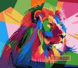 Rainbow lion (v2) counted cross stitch kit