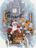 Santa in town v2 counted cross stitch kit