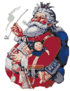 Santa with gifts No3 counted cross stitch kit