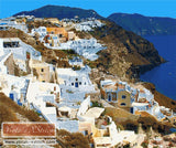 Santorini caldera view No1 counted cross stitch kit
