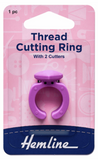 Thread cutting ring