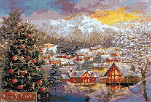 Seasons greetings counted cross stitch kit