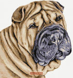 Shar Pei counted cross stitch kit